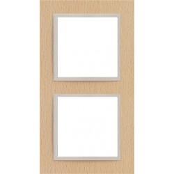Ramka 2-krotna, drewniana, kolor, buk/perłowy EFAPEL LOGUS 90