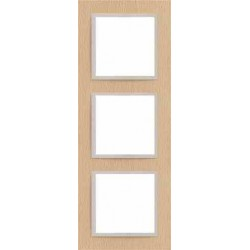Ramka 3-krotna, drewniana, kolor, buk/perłowy EFAPEL LOGUS 90