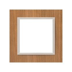 Ramka 1-krotna, drewniana, kolor, wiśnia/perłowy EFAPEL LOGUS 90