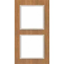 Ramka 2-krotna, drewniana, kolor, wiśnia/perłowy EFAPEL LOGUS 90