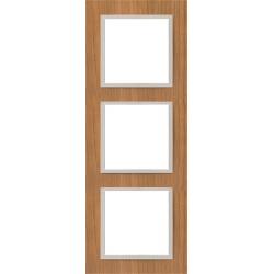 Ramka 3-krotna, drewniana, kolor, wiśnia/perłowy EFAPEL LOGUS 90