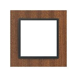 Ramka 1-krotna, drewniana, kolor, mahoń/grafit EFAPEL LOGUS 90