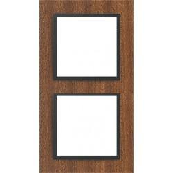 Ramka 2-krotna, drewniana, kolor, mahoń/grafit EFAPEL LOGUS 90