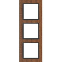 Ramka 3-krotna, drewniana, kolor, mahoń/grafit EFAPEL LOGUS 90