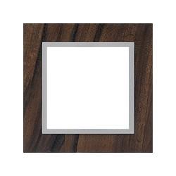 Ramka 1-krotna, drewniana, kolor, orzech włoski/alu EFAPEL LOGUS 90