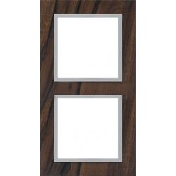 Ramka 2-krotna, drewniana, kolor, orzech włoski/alu EFAPEL LOGUS 90