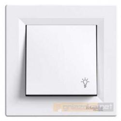 """Przycisk z symbolem """"światło"""" biały Schneider Asfora"""