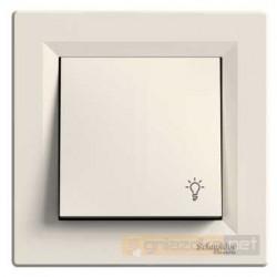 """Przycisk z symbolem """"światło"""" kremowy Schneider Asfora"""