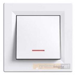 Przycisk z podświetleniem biały Schneider Asfora
