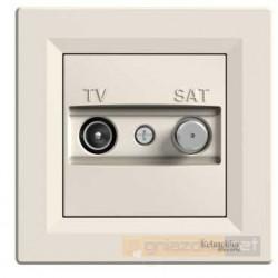 Gniazdo TV SAT kremowe Schneider Asfora