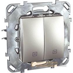 Łącznik żaluzjowy aluminium Schneider Unica Top