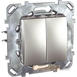 Łącznik podwójny schodowy aluminium Schneider Unica Top