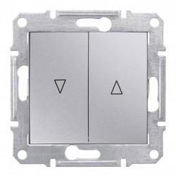 Przycisk żaluzjowy aluminium Schneider Sedna