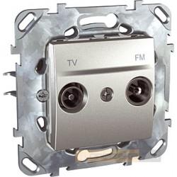 Gniazdo RTV aluminium Schneider Unica Top