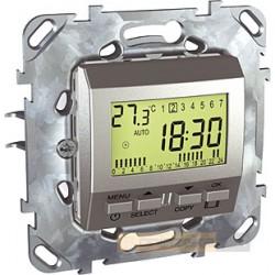 Regulator temperatury programowalny aluminium Schneider Unica Top