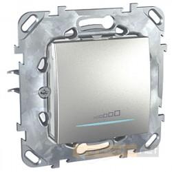 Ściemniacz przyciskowy aluminium Schneider Unica Top