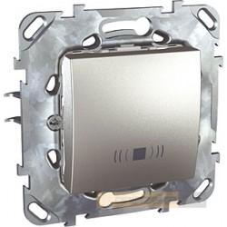 "Przycisk z symbolem ""dzwonek"" aluminium Schneider Unica Top"