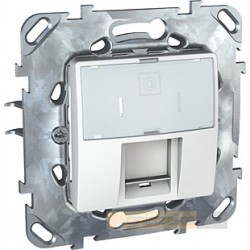 Gniazdo komputerowe pojedyncze Kat.5e RJ45 biel polarna Schneider Unica Plus