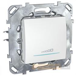 Ściemniacz przyciskowy biel polarna Schneider Unica Plus