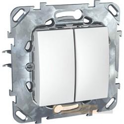 Łącznik podwójny schodowy biel polarna Schneider Unica Plus