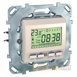 Regulator temperatury programowalny piaskowy Schneider Unica Plus