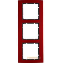 Ramka 3-krotna alu czerwony/antracyt Berker B.3