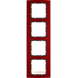 Ramka 4-krotna alu czerwony/antracyt Berker B.3