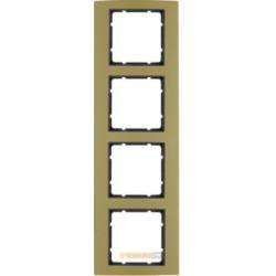 Ramka 4-krotna alu złoty/antracyt Berker B.3