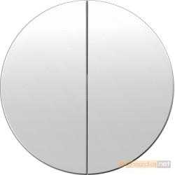 Przycisk podwójny zwierny biały połysk Berker R.1/R3