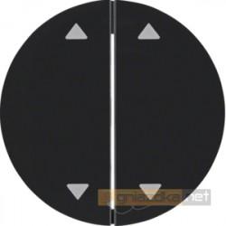 Przycisk grupowy 4 zwierne czarny połysk Berker R.1/R3