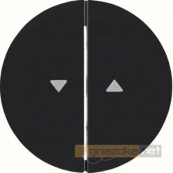 Przycisk żaluzjowy zwierny czarny połysk Berker R.1/R3