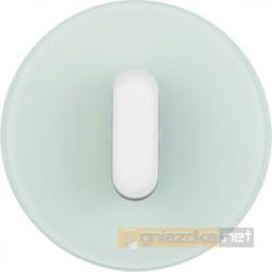 Łącznik obrotowy uniwersalny / schodowy białe szkło Berker R.classic