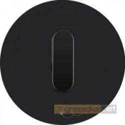Przycisk zwierny obrotowy czarne szkło Berker R.classic