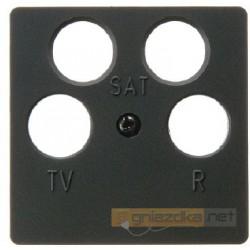 Gniazdo antenowe RTV 2xSAT nieprzelotowe antracyt Berker Q.1/Q.3
