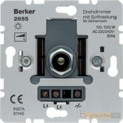 Ściemniacz obrotowy z płynną regulacją śnieżnobiały Berker K.1