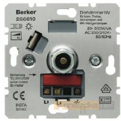 Ściemniacz obrotowy 20-500W/VA śnieżnobiały Berker K.1