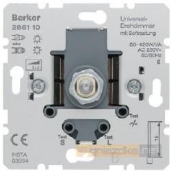 Ściemniacz uniwersalny z płynną regulacją śnieżnobiały Berker K.1