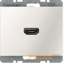 Gniazdo HDMI z przyłączem 90° śnieżnobiały Berker K.1