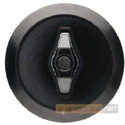 Przycisk zwierny obrotowy czarny połysk Berker 1930