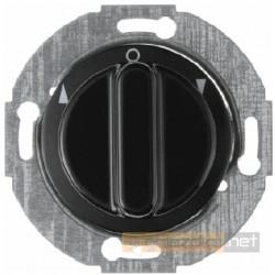 Łącznik żaluzjowy obrotowy czarny połysk Berker 1930