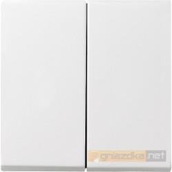 Łącznik podwójny seryjny schodowy (świecznikowy) biały mat Gira System 55