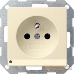 Gniazdo z uziemieniem podświetlane LED kremowy Gira System 55