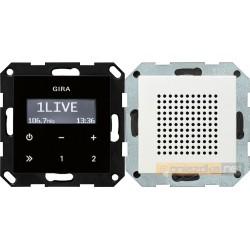 Radio pt. RDS biały mat Gira System 55