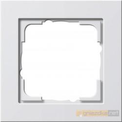 Ramka pojedyncza biały połysk Gira E2