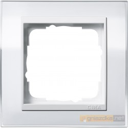Ramka pojedyncza biały Gira Event Clear