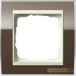 Ramka pojedyncza brązowy Gira Event Clear