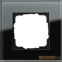 Ramka pojedyncza czarne szkło Gira Esprit