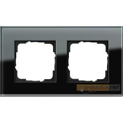 Ramka podwójna czarne szkło Gira Esprit