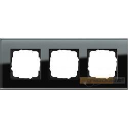 Ramka potrójna czarne szkło Gira Esprit