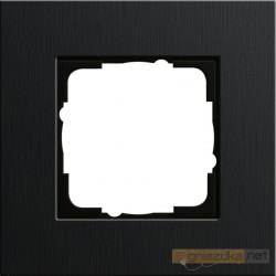 Ramka pojedyncza czarne aluminium Gira Esprit